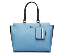 Effortless Saffiano, Shopper Tasche Blau