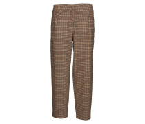 Slfmargery Mw Ankle Pant B Hosen Mit Weitem Bein Braun SELECTED FEMME