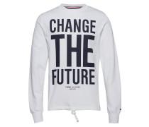 Slogan Sweatshirt T-Langärmliges Hemd Weiß TOMMY HILFIGER