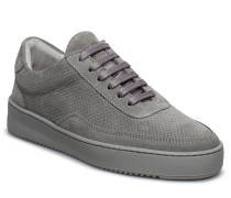Low Mondo Ripple Suede Perforated Niedrige Sneaker Grau FILLING PIECES