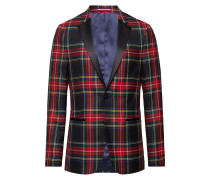 Wool Tartan Slim Fit Blazer