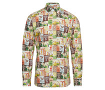 Tennis Print Multicoloured Shirt Hemd Business Bunt/gemustert ETON
