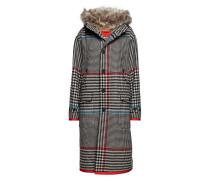 Long Hooded Coat Wollmantel Mantel Grau HILFIGER COLLECTION