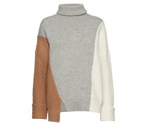 Viola Knits High Neck Jumper Strickpullover Grau FRENCH CONNECTION