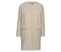 O2. Collarless Boiled Wool Coat