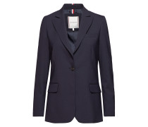 Th Essential Flex Wool Sb Blazer Blazer Jackett Blau TOMMY HILFIGER