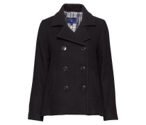 O1. Wool Pea Coat Wollmantel Mantel Blau