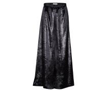 Eina Velvet Langes Kleid Schwarz