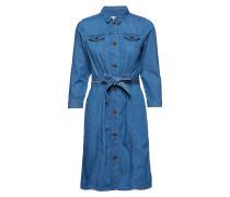 Ajda Indigo Dress Kleid Knielang Blau INWEAR