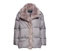 Devon Quilt Fur Trim Wrap Coat