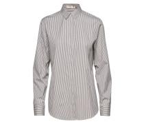Stripe Boyfriend Bluse Langärmliges Hemd Weiß