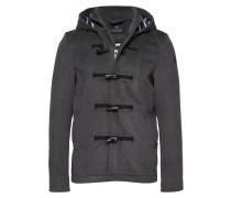 Classic Short Toggle Coat In Bonded Wool Quality Wolljacke Jacke Grau SCOTCH & SODA