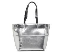 Dual Shopper Metalic Shopper Tasche Silber CALVIN KLEIN