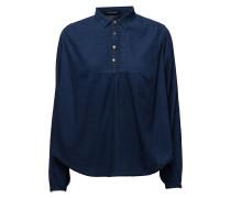 Sheer Cotton Indigo Top With Special Detailing