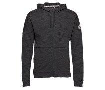Id Stadium Fz Sweatshirts & Hoodies Zip Throughs Grau