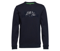 Man Jersey Sweatshirt Langärmliger Pullover Blau ARMANI EXCHANGE