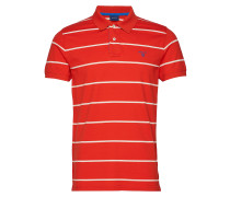 O1.Contrast Stripe Pique Ss Rugger Polohemd Kurzarm-Shirt Rot GANT