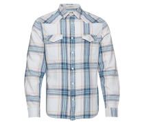 Ls Westernhemd Hemd Casual Blau WRANGLER