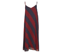 Tommy Icons Pleated Slip Dress Kleid Knielang Rot