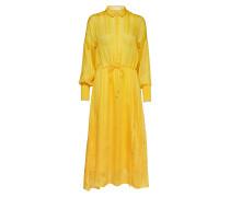 Hollis Dress Kleid Knielang Gelb INWEAR
