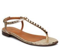 Shoes 8623 Flache Sandalen Gold