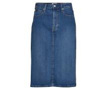 Iconic Midi Skirt Knielanges Kleid Blau CALVIN KLEIN JEANS