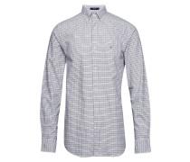 The Oxford Tattersall Reg Bd Hemd Business Blau GANT