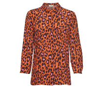 Robbie Print-Hemd Langärmliges Hemd Orange