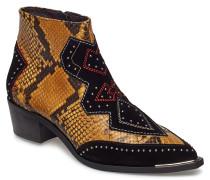 Boots Stiefelette Ohne Absatz Braun