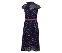 Dresses Light Woven Kleid Knielang Blau ESPRIT COLLECTION