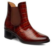 Ankle Boots Stiefeletten Mit Absatz Braun