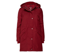 O1. Technical Wool Down Parka Parka Jacke Rot