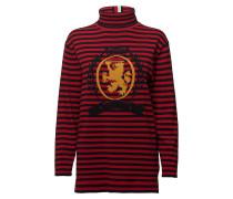 Gestreifter Rollkragenpullover  Rollkragenpullover Polohemd Rot HILFIGER COLLECTION