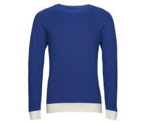 Soft Cotton Rib Kazam Strickpullover Rundhals Blau