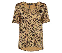 Relaxed Fit Mercerised Tee With Animal Print