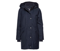 O1. Technical Wool Down Parka Parka Jacke Blau