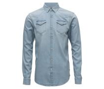 Ams Blauw Westernhemd Classic Fit