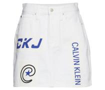 High Rise Mini Skirt Kurzes Kleid Weiß CALVIN KLEIN JEANS