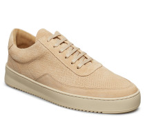 Low Mondo Ripple Suede Perforated Niedrige Sneaker Beige FILLING PIECES