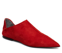 Medina Slipper Loafers Flache Schuhe Rot HOPE