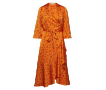 Miliana Tech Kleid Knielang Orange RODEBJER