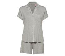 Lrl Notch Collar Boxer Pj Set Pyjama Grau