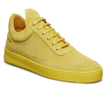 Low Top Ripple Suede Perforated Niedrige Sneaker Gelb FILLING PIECES