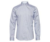 O1. Windblown Oxford Plaid Slim Bd Hemd Blau GANT
