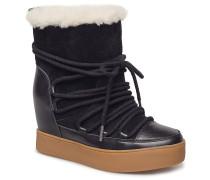 Trish Wool Boots Knöchelhohe Stiefel Schwarz SHOE THE BEAR