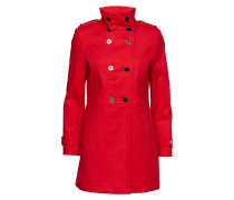 Coats Woven Trenchcoat Mantel Rot ESPRIT COLLECTION