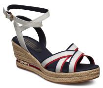 Elba 60c1 Sandale Mit Absatz Espadrilles Weiß