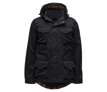 Hooded Jacket In Technical Quality With Mesh Lining