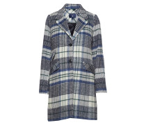 O1. Padded Wool Overcoat Wollmantel Mantel Blau