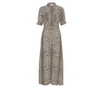 Lydia Leopard Maxi Dress Maxikleid Partykleid Braun